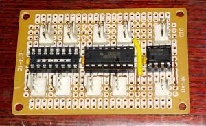 Old 'Vero' board DMX Spliter'