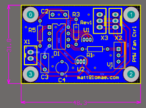 PWM Fan Controller PCB Design
