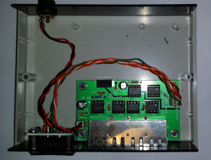 Internal View of Quad Isolated DMX Splitter