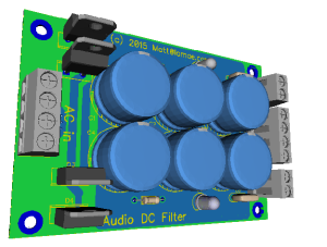 3D view of DC filter Board